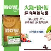 【SofyDOG】Now! 鮮肉無穀天然糧 幼貓配方(4磅) 貓飼料 貓糧 抗敏