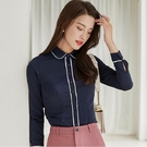 簡約直條紋配色長袖襯衫[20S296-PF]美之札