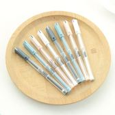 優品中性筆 簡約黑筆0.35mm小清新韓國女生可愛創意萌碳素細水筆 生活樂事館