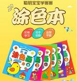 兒童涂色書 畫畫本寶寶幼兒園啟蒙入門涂鴉圖畫2-3-6歲繪畫冊套裝