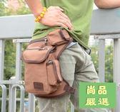 腰包男士多功能帆布腿包軍迷戰術包戶外運動騎行腰包綁腿包工具包新款