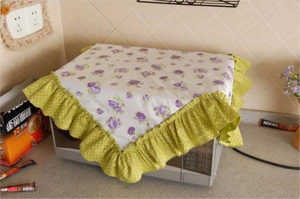 [超豐國際]棉布藝微波爐罩 微波爐蓋巾 微波爐防塵罩 微波爐
