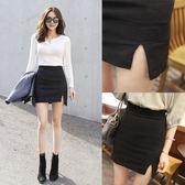 新款不規則短裙彈力防走光包臀裙