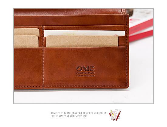 OMC - 原皮魅力真皮款11卡1照長夾
