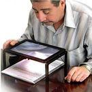 Qmishop 年長必備 放大鏡 LED讀書燈 關愛老老人健康 電池式可外帶外出用【QJ1488】