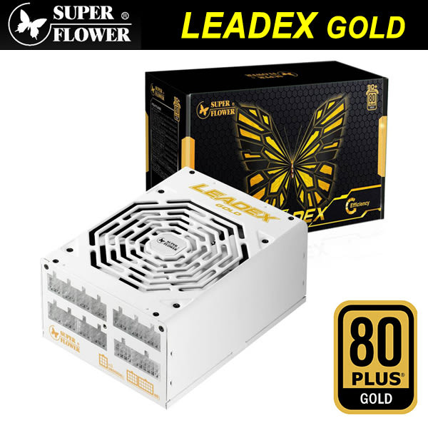 【免運費】Super Flower 振華 Leadex GOLD 金牌80+ 全模組化 電源供應器 1300W / 5年保固 (SF-1300F14MG)