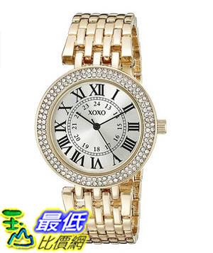 [美國直購] 女錶 XOXO Women s XO265 Analog Display Analog Quartz Gold-Tone Watch