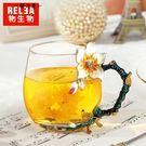 物生物法式創意琺瑯彩玻璃杯個性宮廷水杯花...