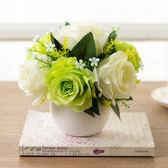 雙十一大促 小清新陶瓷圓球花瓶迷你田園花藝擺件客廳家居裝飾品假花仿真套裝 艾尚旗艦店