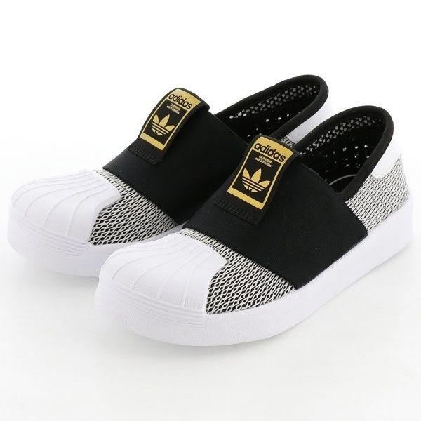 Adidas SUPERSTAR SMR 360 C 童鞋 中童 休閒 金標 襪套 輕量 透氣 黑【運動世界】CG6987