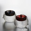 儲茶罐 天天特價錘紋玻璃透明茶葉罐普洱茶倉糖果花茶儲物罐茶道配件 3C優購HM