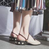 包頭半拖鞋女2018夏季新款百搭涼拖兩穿時尚外穿穆勒鞋女鞋子