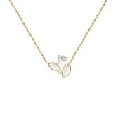 PD PAOLA 白紋大理石925純銀鍍18K金項鍊