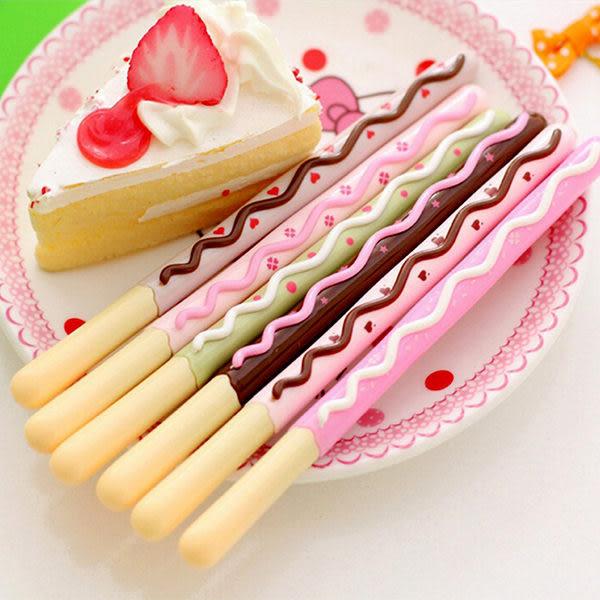 【BlueCat】甜蜜偽Pocky巧克力餅乾棒水性筆 中性筆 (六色裝)