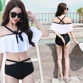 韓版少女學生抹胸性感時尚分體泳衣比基尼二件式溫泉泳裝 港仔會社
