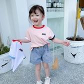 女童短袖T恤夏裝2020新款正韓洋氣兒童夏季純棉體恤小孩寬鬆上衣