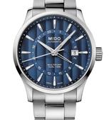 MIDO美度錶Multifort 雙時區自動機械錶(M0384291104100)藍面/鋼帶/42mm
