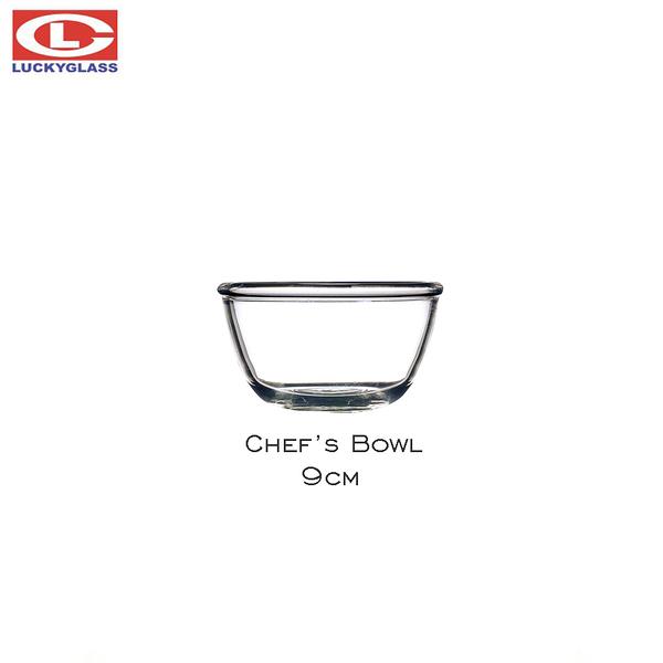 泰國LUCKY Chef's Bowl 9cm 廚師佐料碗 玻璃碗 甜點碗 180mL