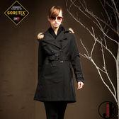 JORDON 橋登 JD1966-黑 女GORE-TEX羽絨二件式長版大衣 輕量化羽絨衣/可收納羽絨衣/保暖羽絨外套