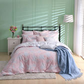 【BBL Premium】浪漫花舞100%精梳棉.印花雙人兩用被床包組