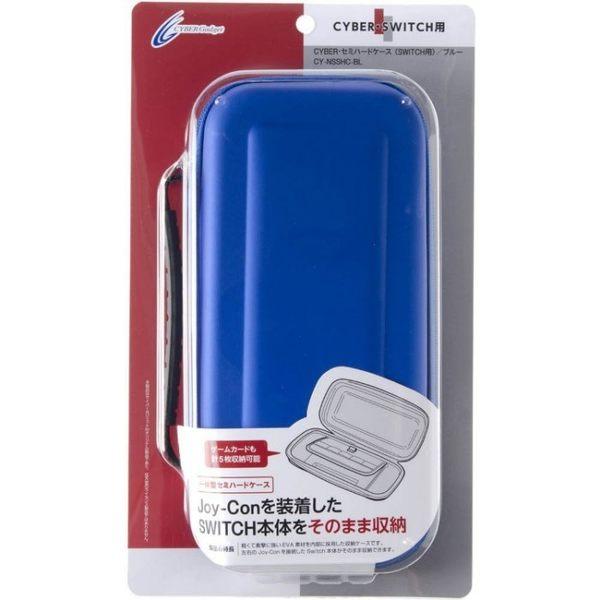 【玩樂小熊】現貨中 Switch主機 NS 日本CYBER 主機+手把用 EVA 耐衝擊主機包 收納包半硬包 藍色款