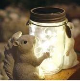 日本松鼠造景提燈小夜燈露營燈LED戶外用充電款103461通販屋