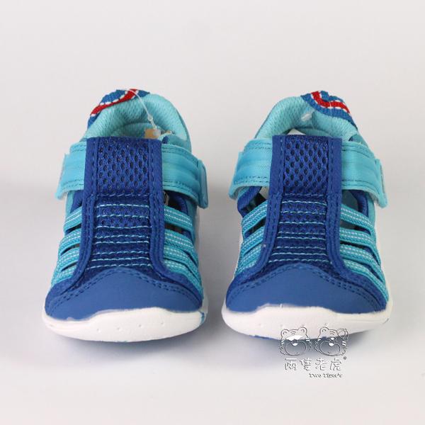 日本 IFME Water Shoes 排水涼鞋 藍/水藍 小童鞋 NO.R3848