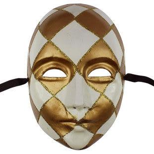 歐式臉譜 男款紙漿彩繪面具