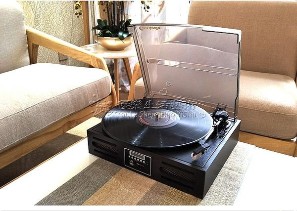 Lp黑膠唱片機帶藍牙 U盤 收音機(附贈轉換插頭) YL-CPJ118