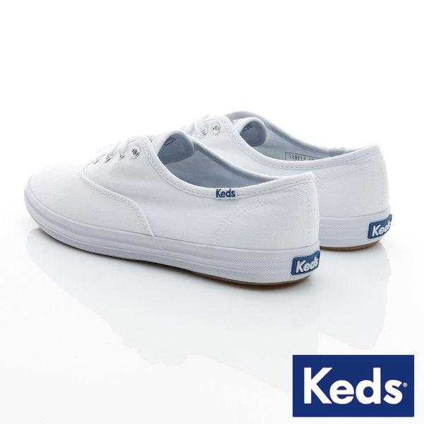 KEDS 經典款帆布小白鞋 綁帶│平底鞋 W110002 女鞋