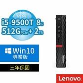 【南紡購物中心】Lenovo ThinkCentre M720 迷你商用電腦 i5-9500T/8G/512G+2TB/Win10專業版