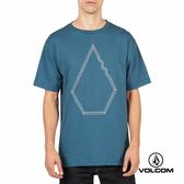 VOLCOM Basic fit 圖案短袖T-Shirt-藍