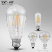 復古E27大螺旋口LED愛迪生燈泡 4W 2W裝飾仿鎢絲白熾燈餐廳燈光源 color  shop