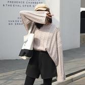 短褲 毛呢女秋冬季外穿百搭高腰a字秋款網紅闊腿打底靴褲 【免運】