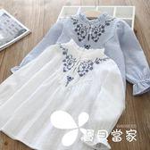 長袖 春季新款女童上衣  童裝女童花朵時尚娃娃衫長袖套頭衫童T恤