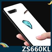 ASUS ROG Phone II ZS660KL 純色玻璃保護套 軟殼 閃亮類鏡面 創新時尚 軟邊全包款 手機套 手機殼