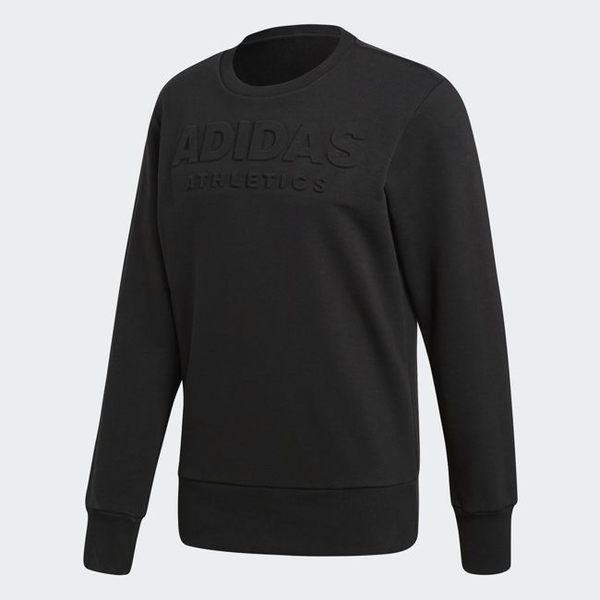 adidas LINEAGE SWEATER 男裝 上衣 長袖 大學T 休閒 舒適 保暖 黑 CV4552