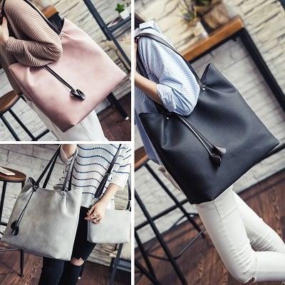 單肩包女大包包新款簡約大容量子母包女包手提斜背包..四色...流行線