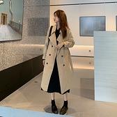 秋季黑色英倫風中長款外套大衣女2020新款韓版設計氣質小個子風衣 【雙十二下殺】