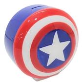 〔小禮堂〕漫威英雄Marvel 美國隊長 盾牌造型陶瓷存錢筒《藍紅》擺飾.撲滿.儲金筒 4942423-23946