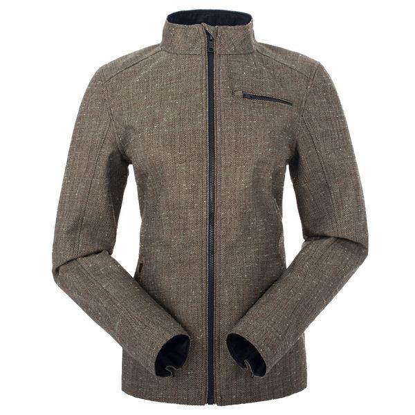 【聖伯納St. Bonalt】女-短版英倫風時尚防水機能風衣(0176)-棕色 防寒外套 保暖 登山 戶外 防風