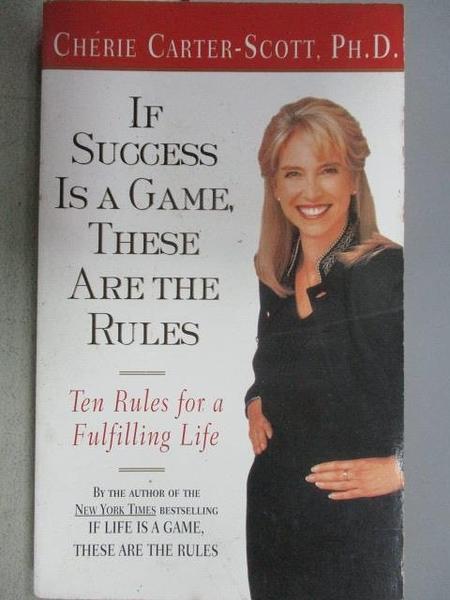 【書寶二手書T5/勵志_MAO】If Success is a Game. These Are the Rules