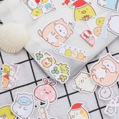 角落生物貼紙-可愛角落生物手賬貼紙卡通墻角生物裝飾貼手工日記自制貼畫100枚 花間公主