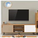 【森可家居】柯瑪6尺推門電視櫃 7ZX401-3 長櫃 視聽櫃 木紋質感 日式 日系 無印風 北歐風