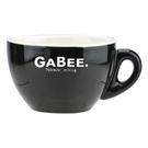 金時代書香咖啡 GABEE. 15號蛋形大卡布杯盤組 230cc黑 HG0758BK-1