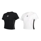 PUMA 女短袖T恤(歐規 路跑 慢跑 上衣 短版≡體院≡ 597631