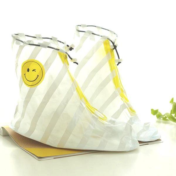 時尚防雨鞋套加厚女雨鞋套防水男防滑加厚底耐磨學生兒童雨天高筒 小時光生活館