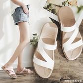 拖鞋女外穿時尚夏海邊沙灘鞋女士外出穆勒鞋網紅潮度假涼拖鞋 糖糖女屋