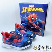 【樂樂童鞋】蜘蛛人電燈運動鞋 MN038 - 男童鞋 運動鞋 布鞋 大童鞋 休閒鞋 跑步鞋 電燈鞋 蜘蛛人
