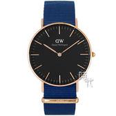 【台南 時代鐘錶 Daniel Wellington】瑞典極簡風格腕錶 Bayswater DW00100277 40mm
